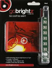 Go Brightz Red LED Night Light Strip Safety Bright Bicycle Bike Cycling Scooter