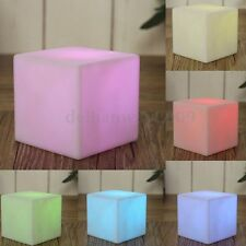LED COLOUR CHANGING Mood Cubes Night Light Glow Lamp Home Bar Pub Outdoor Decor