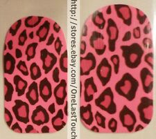 KISS Nail Dress LINGERIE Strips/Appliques/Decals PINK/BLACK Leopard/ANIMAL PRINT