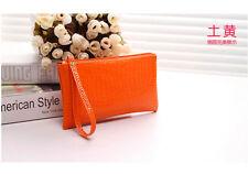 New fashion charm women long zipper wallet phone package cosmetic bag gift SE1