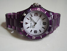 Fashion Designer Style Purple finish Boyfriend light weight Plastic Watch