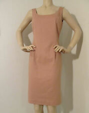 NEW ST JOHN KNIT SPORT SZ 10 WOMENS DRESS TAN BISCUIT COTTON SPANDEX SHEATH