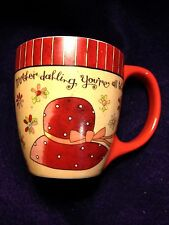 "Lang Coffee Mug Red ""Mother dahling, You're all that!"" Ceramic Micro & Dishwash"
