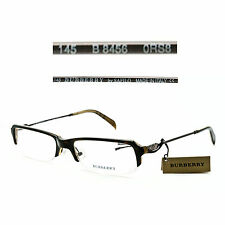 Burberry B 8456 0RS8 Half-Rimless 52/18/145 Eyeglasses Rx Made in Italy - New