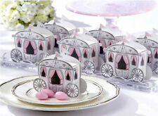 50pcs Cinderella Enchanted Carriage Marriage Candy Gift Boxes Wedding Favors