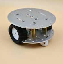 MINI 2WD 2Layer Metal aluminium alloy Smart Robot Car Chassis For Arduino CNC