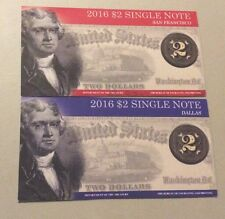2016 $2 Single Note Collection Set,Limited Edition 2 notes Sanfrancisco &Dallas