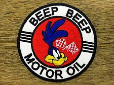 """New"" looney tunes ROADRUNNER Motor Oil Embroidered Iron On/Sew On Patch"