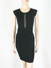 French Connection Cruz Danni Dress Black Knit US-6 UK-10 $188 9459 BM12