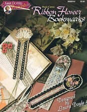 Plastic Canvas Ribbon Flower Bookmarks by Annie Potter Presents