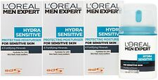3 x 50ml LOreal Men Expert Hydra Sensitive Protecting Moisturiser
