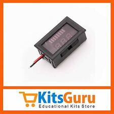 Charge Level Battery Level Indicator Voltmeter for 12V Lead-acid Battery KG367