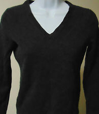 Women's Lord & Taylor V-neck Black extra fine merino wool Top Small