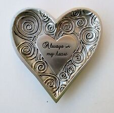 o2a Always in my Heart Ring Dish Jewelry holder organizer metal Ganz love