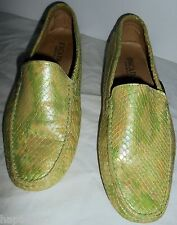 ESCADA Vintage Shoes Leather Crock Alligator Green 37 7 HapaChico Haute Couture