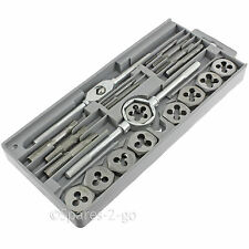 20 Piece Tap & Die Tool Kit Set 8 Metric Size Carbon Steel Taper Taps Bar Wrench