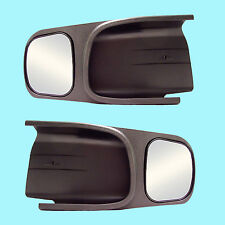 2 CLIP-ON TOWING MIRRORS tow extension extend side rear view hauling extender d2