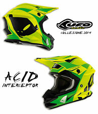 UFO PLAST CASCO HELMET ACID INTERCEPTOR TAGLIA L MOTO CROSS ENDURO MOTARD MTB