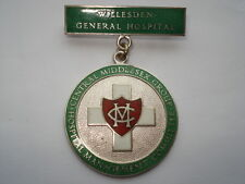 WILLESDEN GENERAL HOSPITAL CENTRAL MANAGEMENT COMMITTEE SILVER PIN BROOCH