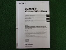 SONY BEDIENUNGSANLEITUNG CDX-MP40 FM/MW/LW COMPACT DISC PLAYER DE GB u.a.  25372