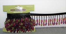 1-1/2 yards Multi-color Beaded Trim Sewing Craft Supply Embellishment New