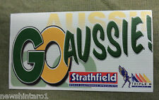#D294.  STRATHFIELD CAR  RADIO  STICKER, GO AUSSIE, TRIPLE M  RADIO