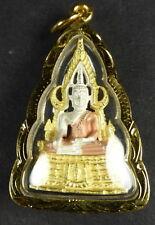 PHRA BUDDHA CHINNARAT AMULET with PHRA BUDDHA CHINNARAT PHA YANT. (A)