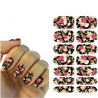 1sheet Nail Art Sticker Water Transfer Stickers Rose Flower Decals Tips Nail DIY