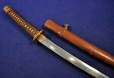 ORIGINAL WWII JAPANESE ARMY OFFICERS SHIN-GUNTO SWORD~SIGNED KANEMUNE