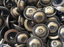 50 pcs ANTIQUE BRASS Shank Button Made in Italy size 20/MM DOME SHAPE
