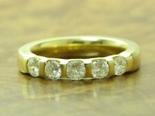 18kt 750 GOLD RING MIT 0,90ct BRILLANT BESATZ / DIAMANT / RG 55 / 8,2g