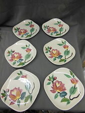 """RED WING Hand Painted PLATES Set of 6 VERY NICE 6""""x6"""""""