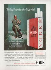 1962 Lorillard Co. YORK Cigarettes Vintage Package PRINT AD
