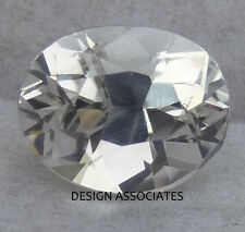 NATURAL WHITE SAPPHIRE  10x8  MM OVAL CUT DIAMOND COLOR