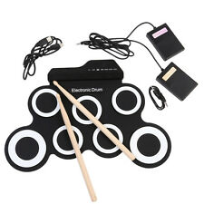 Drum Set Record Stick Pad Silicon Electric Portable Electronic Roll Up
