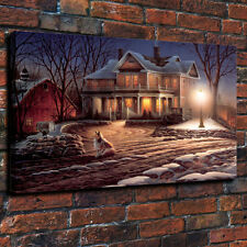 HD print Terry Redlin] Lights Of Home decorative art painting on canvas 16X22