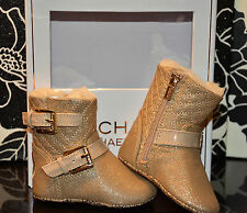 Michael Kors - 'Baby Harmony' Bootie  - Gold Shimmer Saffian - Size 1