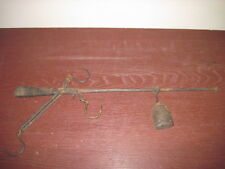 Antique 1800s Hanging Steelyard with Hooks Weight Scale Balance Vintage Tool