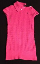 POLO RALPH LAUREN GIRLS PINK CABLE KNIT DRESS XL(16Y) RRP£89 NOW£44.50