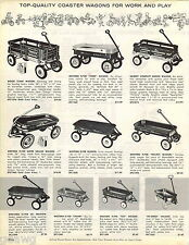 1963 ADVERT Western Flyer Rodeo Coaster Wagon Rocket Super Deluxe Scooter