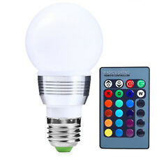 3W E27 Multi Color LED RGB Magic Spot Light Bulb Lamp with Remote Control abus