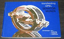 Handleiding Opel Senator A Monza Betriebsanleitung Onderhoud Stand 09/1982!