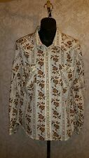 Panhandle Slim Women's Western Wrangler Cowgirl Rodeo Long Sleeve Shirt M #2050