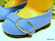 """BLUE Weave Ballet Flat w/ Buckle DOLL SHOES fits 18"""" AMERICAN GIRL Doll Clothes"""