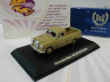 Best of Show 87065 # Mercedes-Benz 180 (W120) Bakkie Baujahr 1956 in grün 1:87