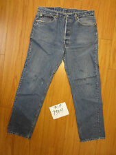 Vintage levi's 501 blue Irregular made in USA flawed LOOK 38x32 zip7304