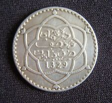 Pièce Argent 1/4 Rial Moulay Hafid 1911/1329.