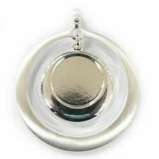 Contemporary Jewelry Findings - Drop Circle Pendant for Your Fused Cabochon