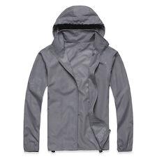 Men Women Oversize Waterproof Windproof Jacket Lightweight Rain Zip Coat Outdoor