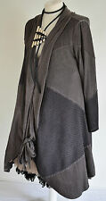 STUNNING DESIGNER DIAGONAL DRESS/COAT SIZE XL/XXL MOCHA